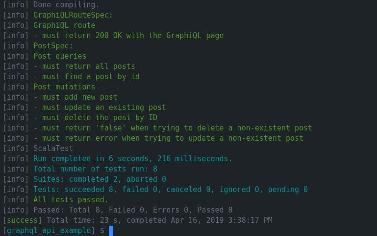Scala and GraphQL API testing – a successfully tested GraphQL query